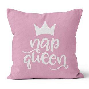 Nap Queen Blush Pink Throw Pillow