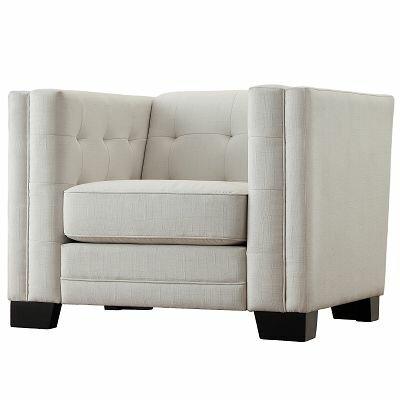 Rolland Square Tufted Upholstered Arm Chair