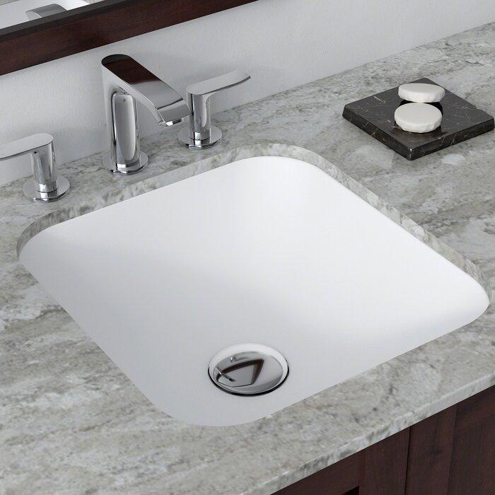 Excellent Natura Square Undermount Bathroom Sink Beutiful Home Inspiration Xortanetmahrainfo
