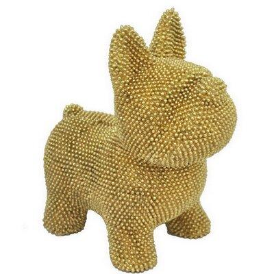 Brayden Studio Tarawa Resin Dog Bank Color: Gold