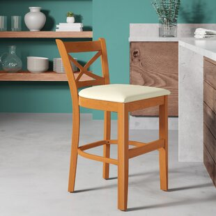 Helsley Cross Back 24 Bar Stool