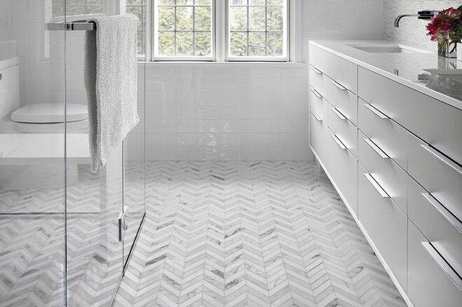 Bathroom Flooring Ideas And Advice: 16 Bathroom Floors That Pull Off Pattern