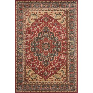 Boswell Red Area Rug by Three Posts
