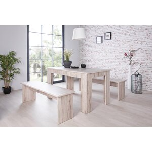 München 3 Piece Dining Set with 2 Benches
