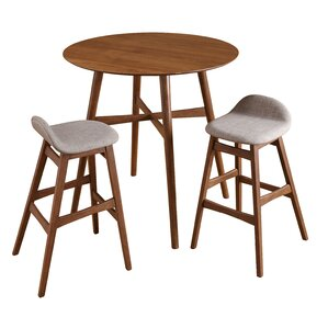 tammy mid century 3 piece pub table set