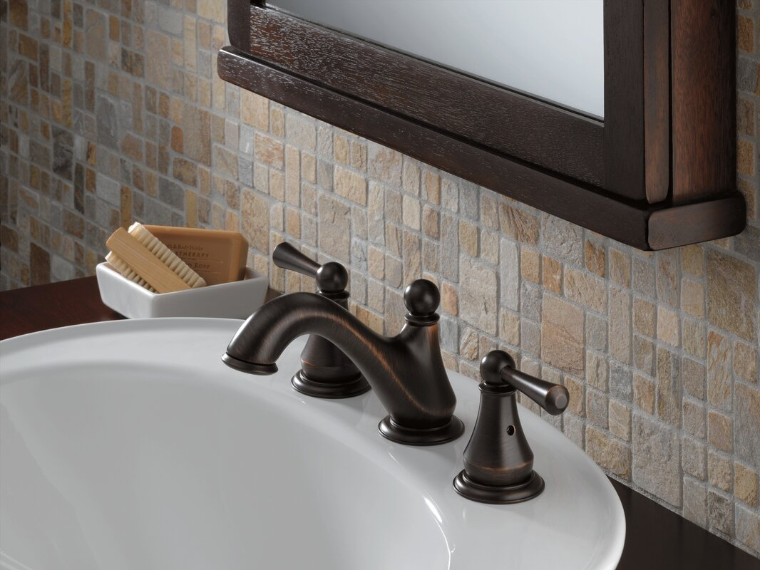 Delta Windemere Oil Rubbed Bronze 2 Handle Widespread: Delta Haywood Double Handle Widespread Bathroom Faucet