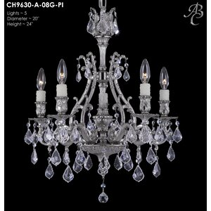 Chateau 5-Light Crystal Chandelier