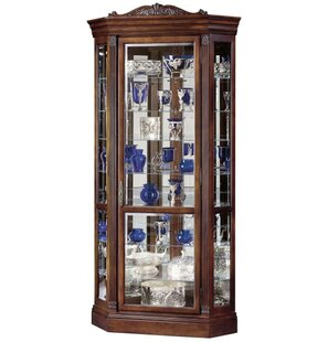 Breunig Lighted Corner Curio Cabinet #1