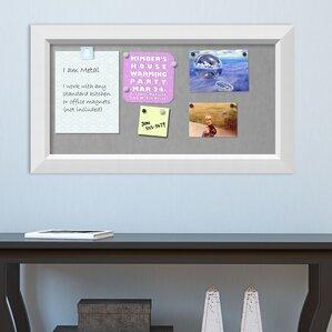 framed magnetic bulletin board