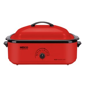 18 Quart Cookwell Roaster Oven in Red