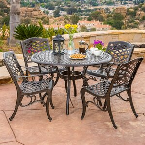 Outdoor Dining Furniture round patio dining sets - patio dining furniture | wayfair