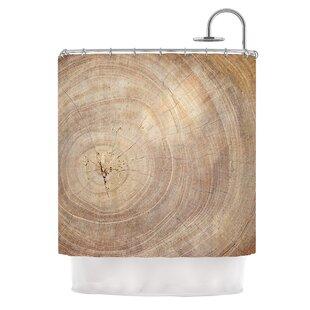 Aging Tree By Susan Sanders Wood Shower Curtain