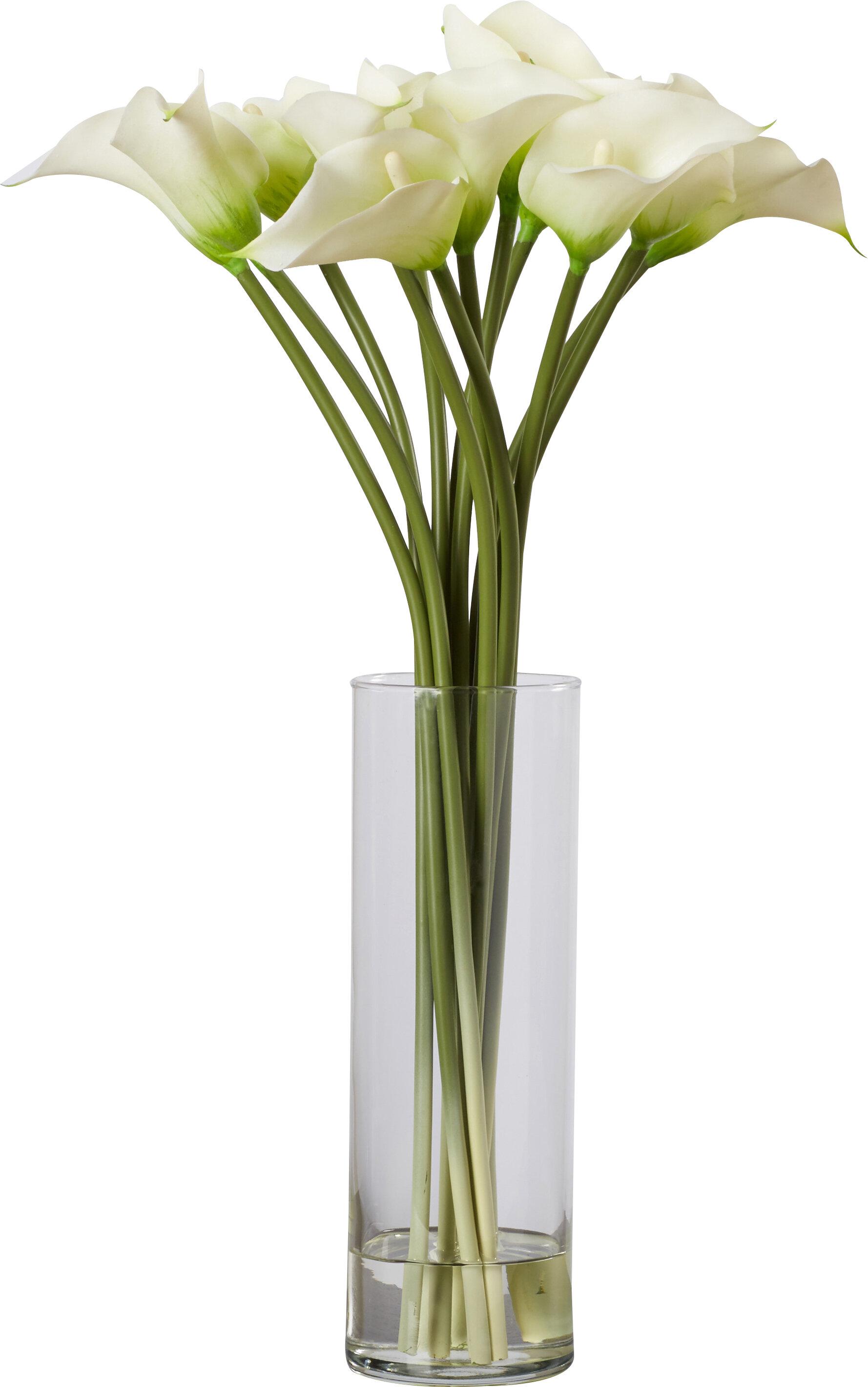 sc 1 st  Joss \u0026 Main & Calla Lily Flower Arrangement in Flower Vase \u0026 Reviews | Joss \u0026 Main