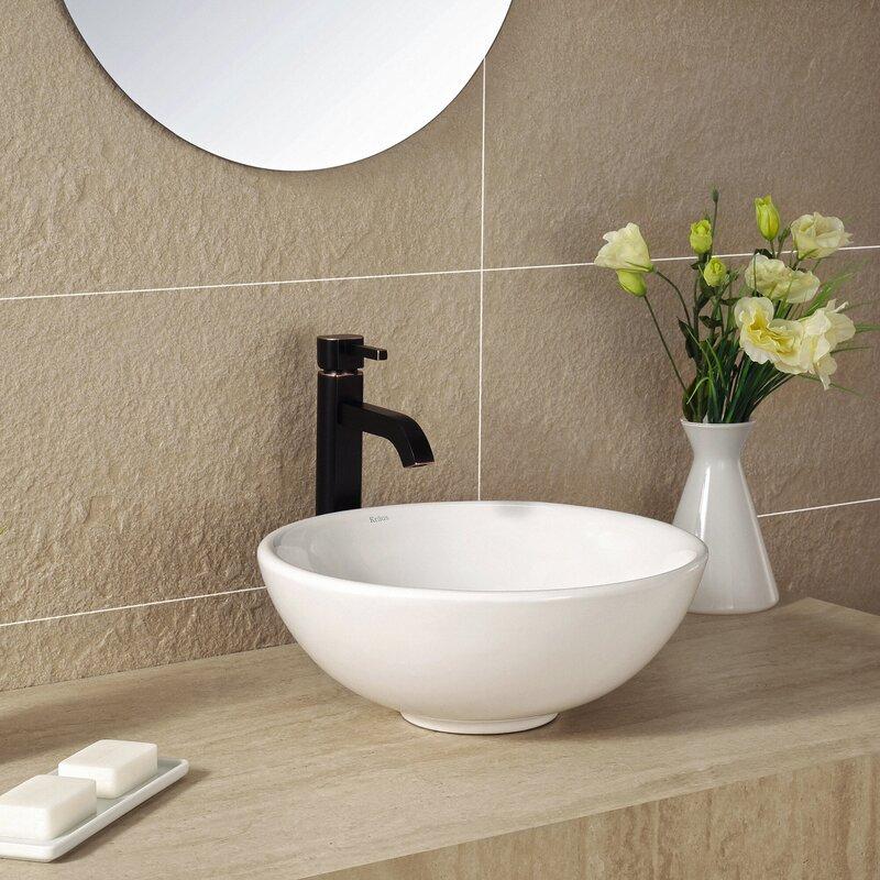 Bathroom Sinks For Sale kraus ceramic circular vessel bathroom sink & reviews | wayfair