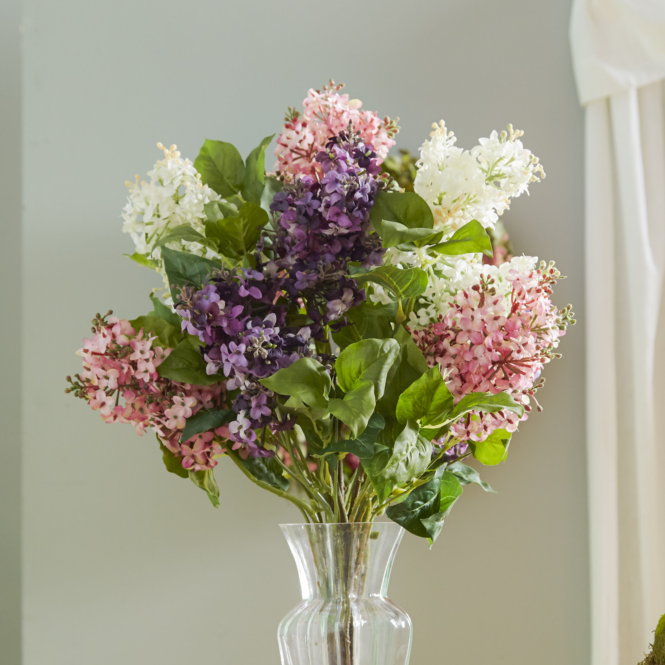 Darby home co glenham lilac silk flower arrangement reviews wayfair mightylinksfo