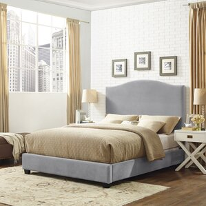 Sylwia Camelback Upholstered Fabric Panel Bed by Gracie Oaks