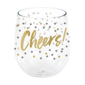 Farmington Cheers Plastic 14 oz. Stemless Wine Glass