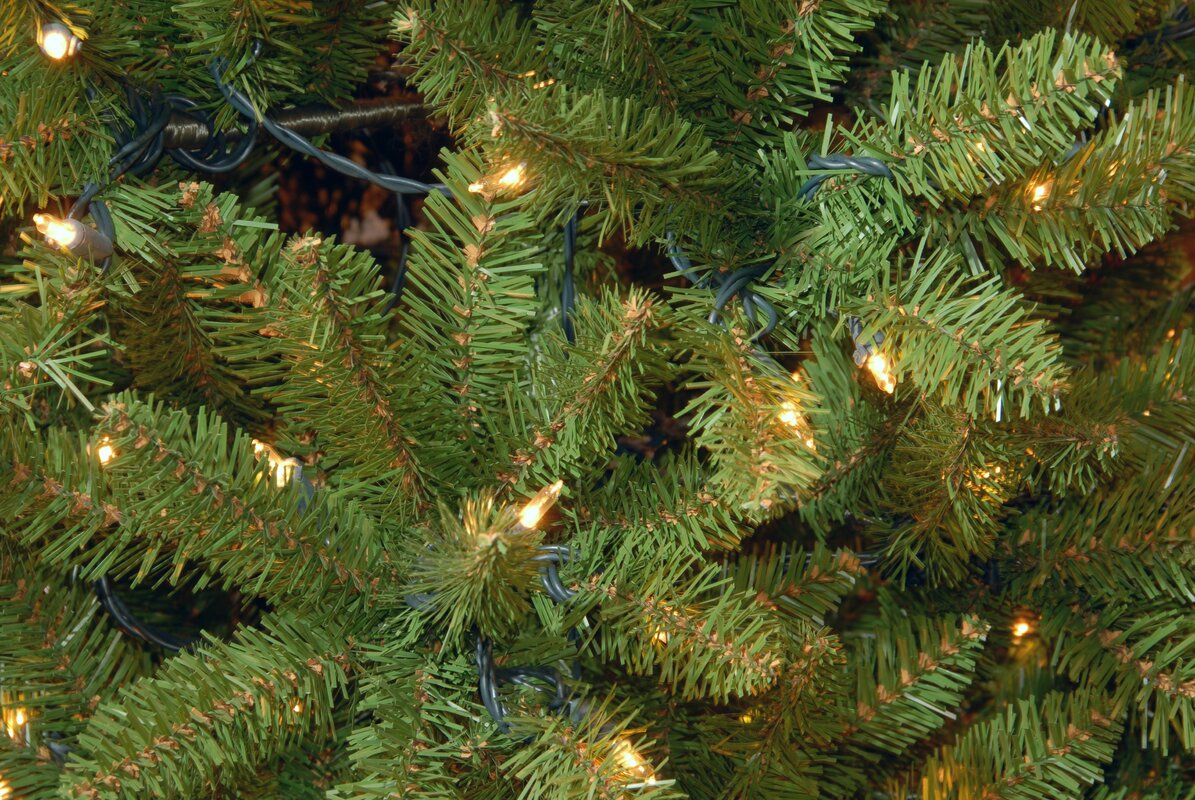 Darby Home Co 7.5\' Green Fir Artificial Christmas Tree with 450 ...
