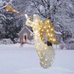 Outdoor christmas light displays you 39 ll love wayfair for Angel outdoor decoration