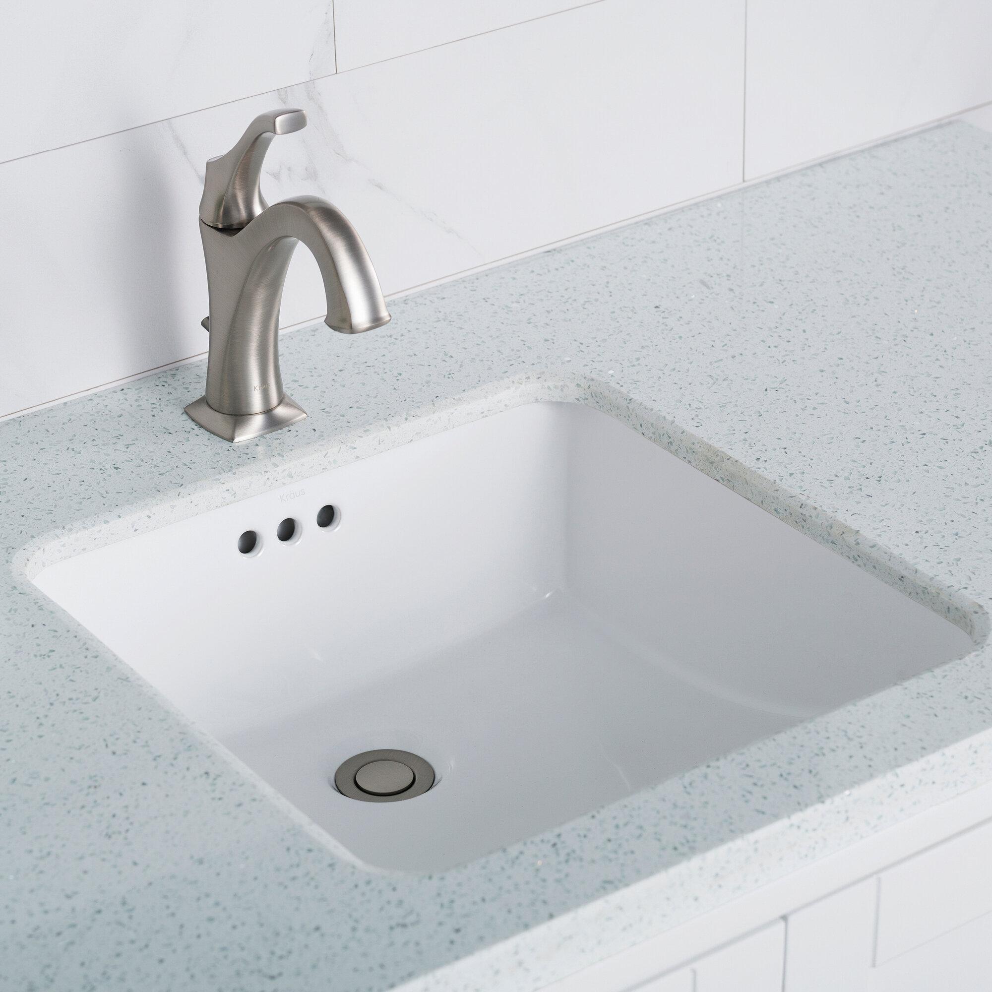 Kcu 231 kraus elavo ceramic square undermount bathroom sink with overflow reviews wayfair