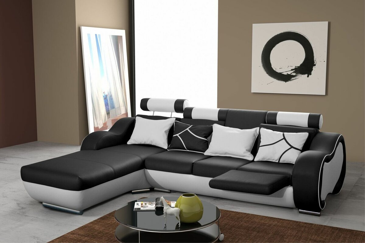 hokku designs ecksofa devola mit relaxfunktion. Black Bedroom Furniture Sets. Home Design Ideas
