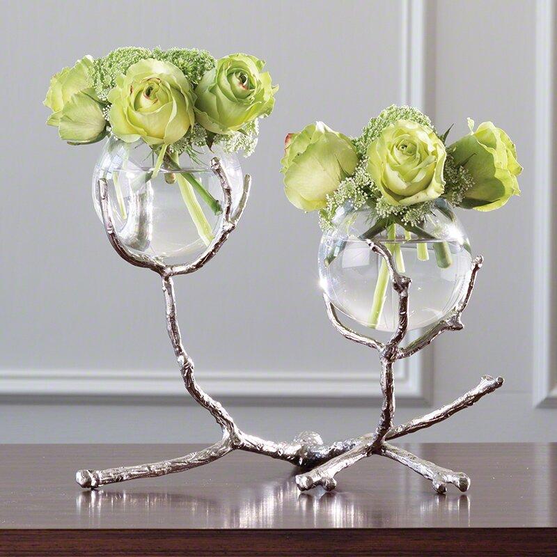 Mercer41 2 Vessel Glass Medium Vase Reviews Wayfair