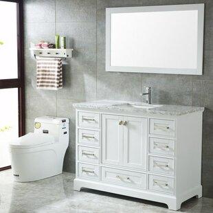 ensemble de vanit de salle de bain moderne de 48 un vier blanc crewkerne