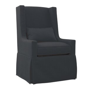 Hoang Swivel Lounge Charcoal Gray Armchair by Gracie Oaks