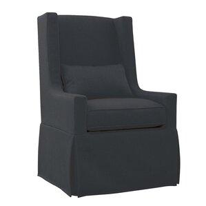 Hoang Swivel Lounge Charcoal Gray Armchair b..