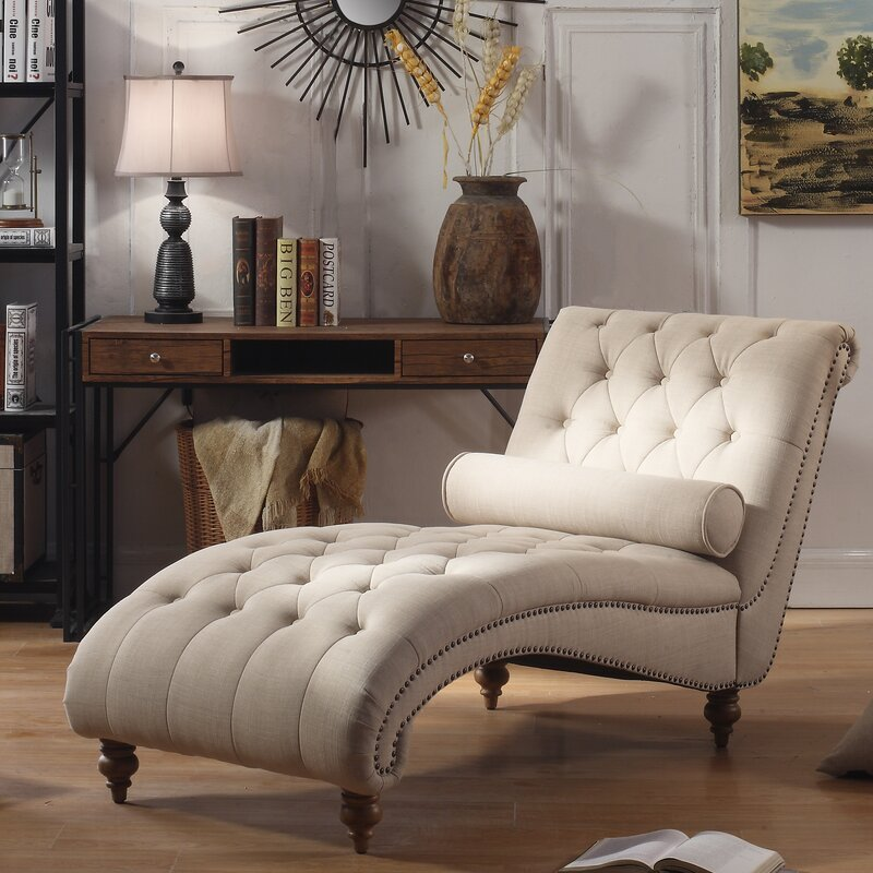 House of Hampton Yarmouth Chaise Tufted Lounge Chair & Reviews ...