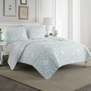 mia 100 cotton quilt set by laura ashley home