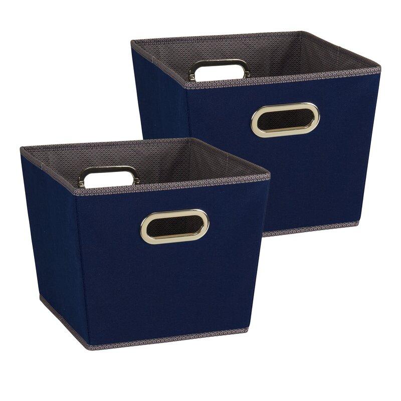 Household essentials 2 piece tapered bin set reviews for Navy bathroom bin