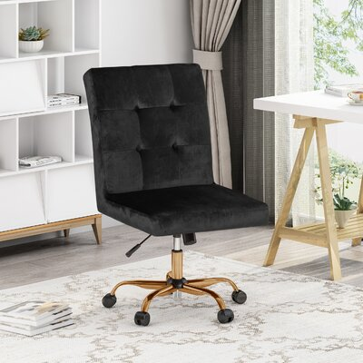Armless Black Desk Chairs You Ll Love In 2019 Wayfair