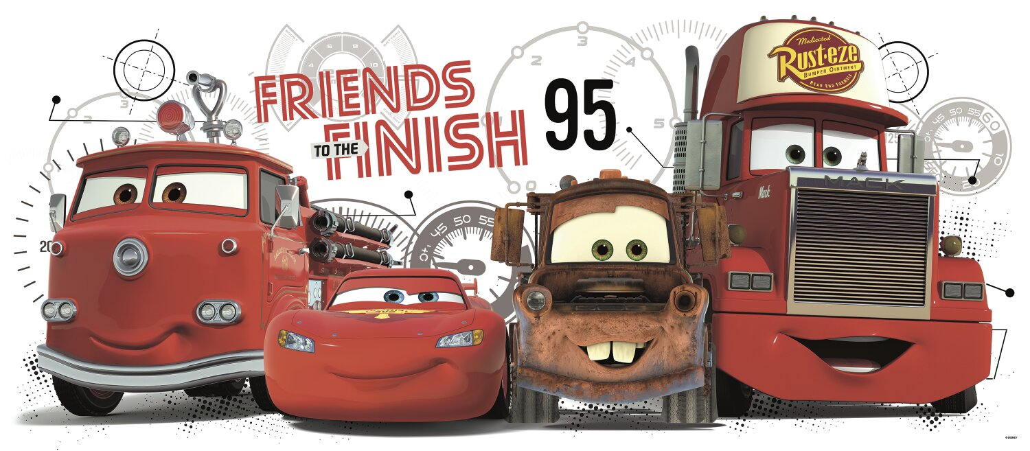 Disney Pixar Cars Friends To The Finish Giant Wall Decal Part 81