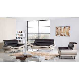 Modern Living Room Furniture Leather modern living room sets | allmodern