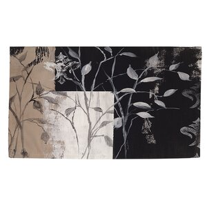 African Leaf Abstract Area Rug