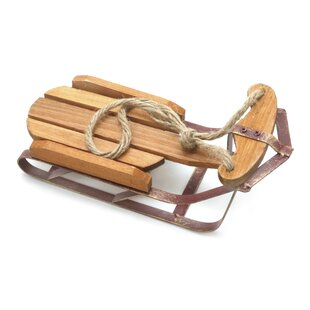 Wooden Sled Decoration Wayfairca
