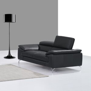 colwyn italian leather loveseat - Black Leather Loveseat