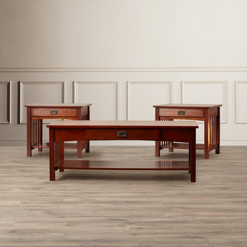 Bon Darby Home Co Harvel 3 Piece Coffee Table Set U0026 Reviews | Wayfair