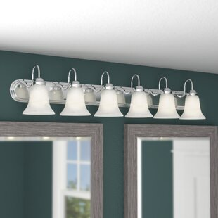 6 or more light bathroom vanity lighting youll love wayfair tiverton strip 6 light vanity light aloadofball Choice Image