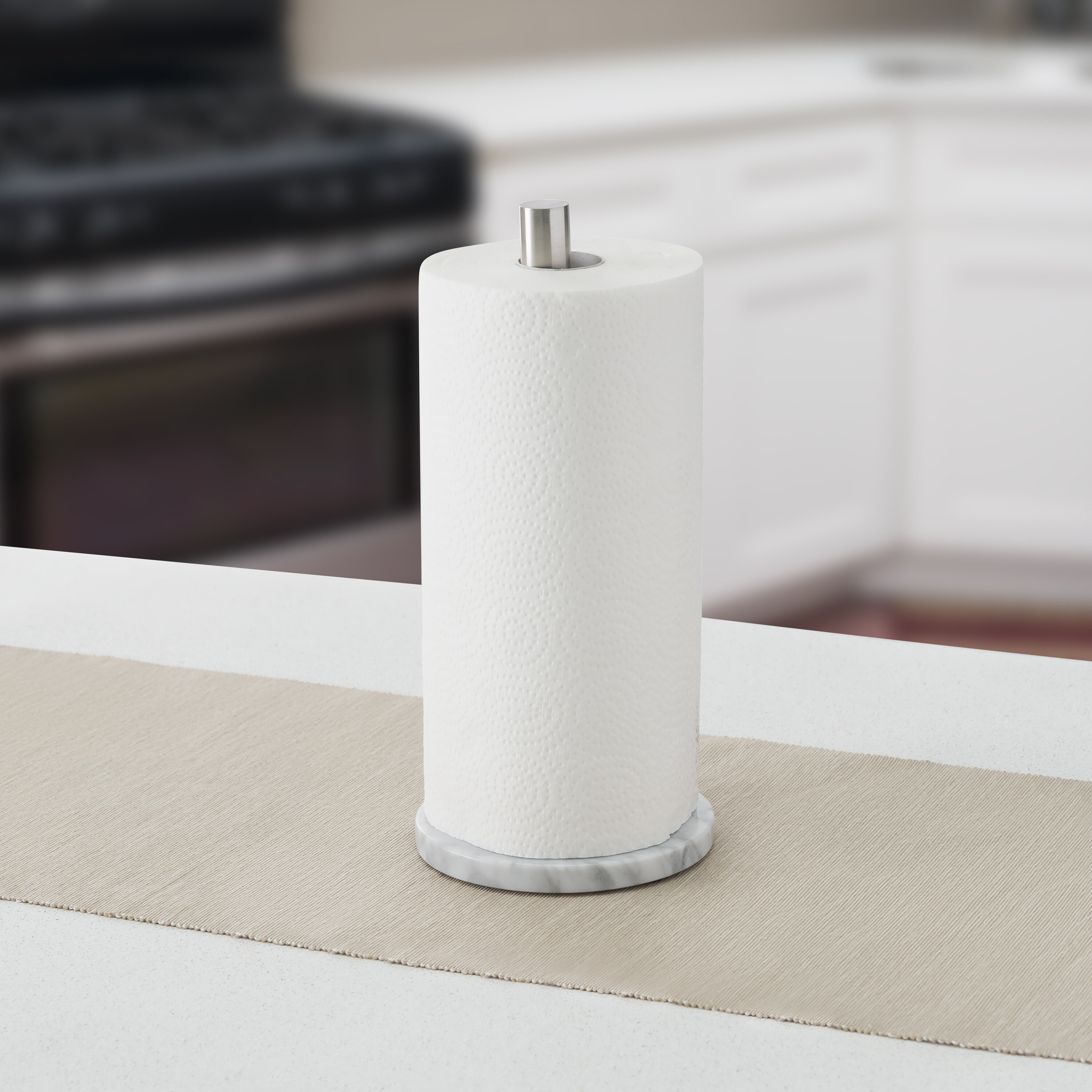 LoXTong Napkin Holder Modern Style Stainless Steel Collection Napkin Holder Paper Towel Rack Table Decoration for Kitchen Countertops