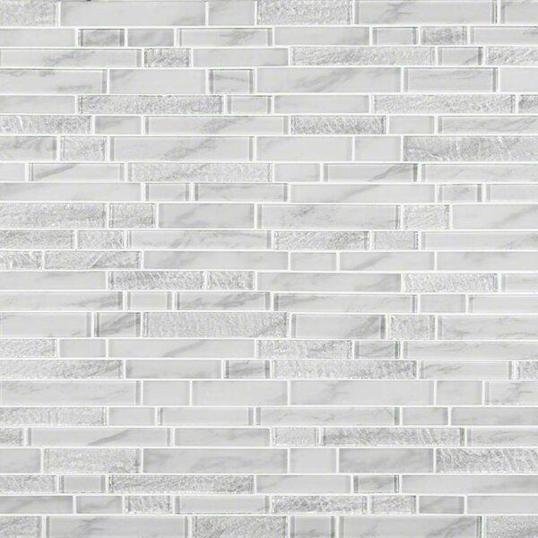 MSI Calypso Interlocking Pattern Random Sized Glass Mosaic Tile In Custom Random Tile Pattern