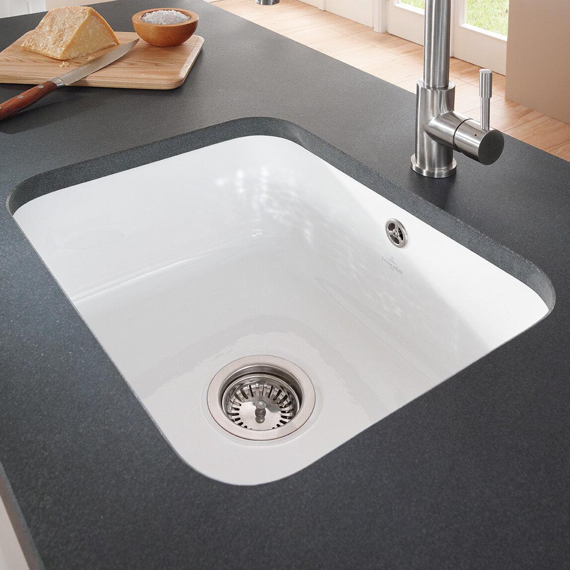 Villeroy boch cisterna 55cm x 44cm undermount kitchen sink wayfair co uk