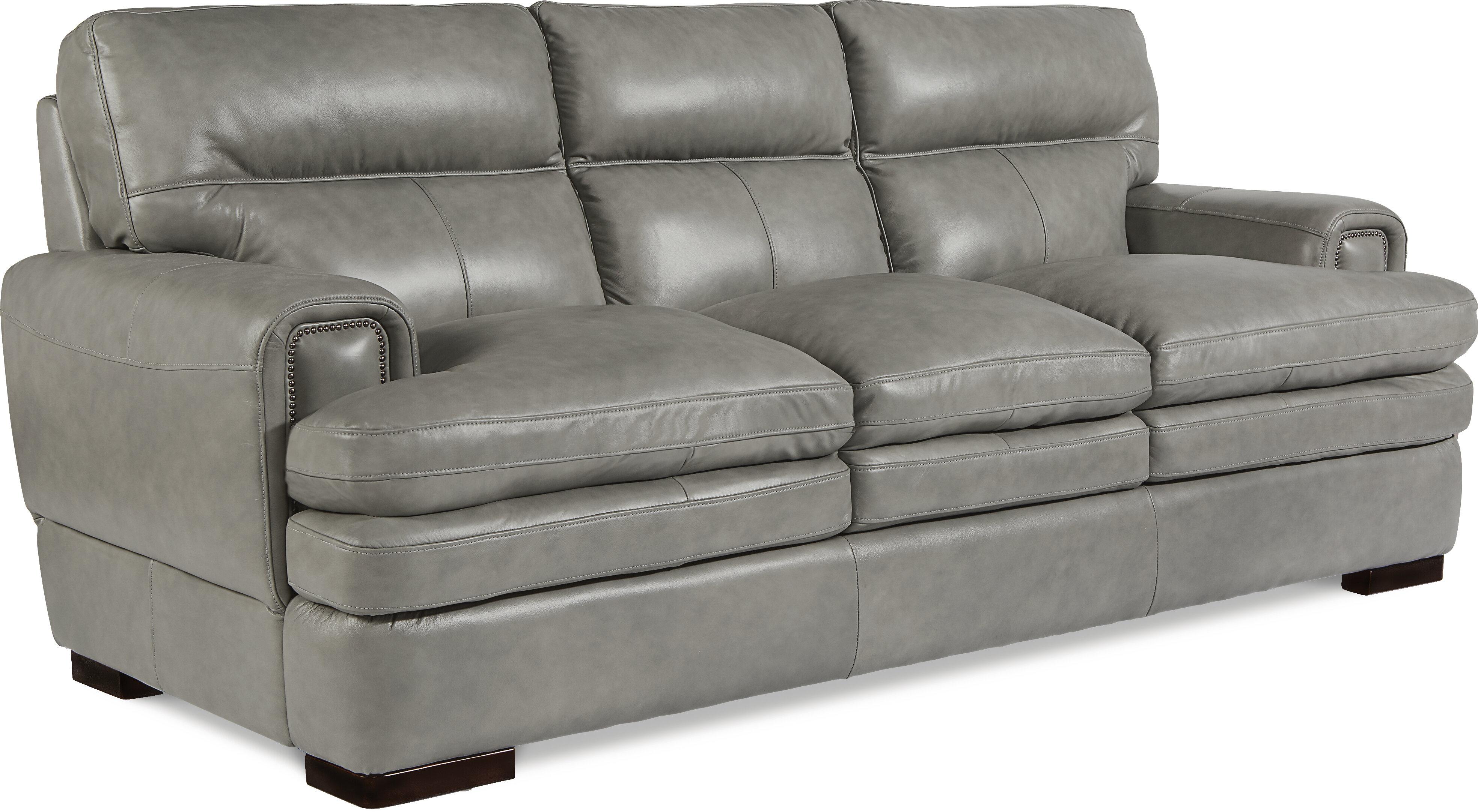 La Z Boy Jake Leather Sofa U0026 Reviews   Wayfair