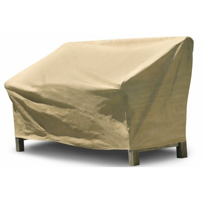 Freeport Park Aaden Outdoor Loveseat Cover Color: Tan, Size: 37H x 56 W x 37 D, Material: Polyester