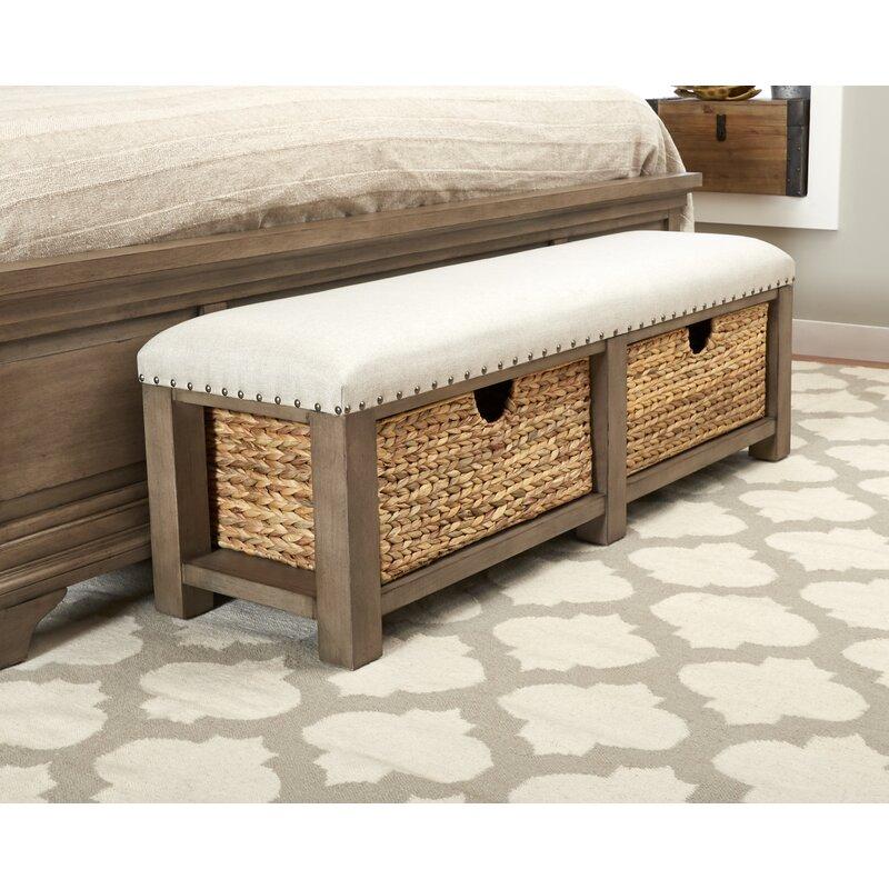Enjoyable Trisha Yearwood Home Homestead Upholstered Storage Bench Theyellowbook Wood Chair Design Ideas Theyellowbookinfo
