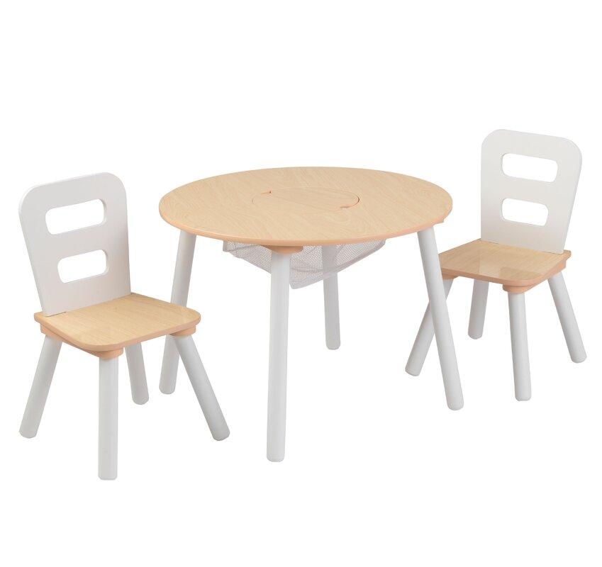 kidkraft 3 tlg rundes kinder tisch und stuhl set bewertungen. Black Bedroom Furniture Sets. Home Design Ideas