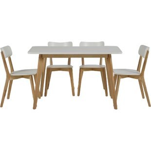 Pitt Rectangular Dining Set With Chairs By Fjørde Co Deals Buy - Rectangular dining table and 4 chairs