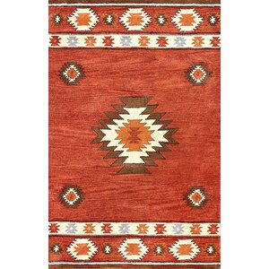 Joshua Hand-Tufted Red Wine Area Rug