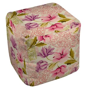 Tulips and Lace Ottoman by Manual Woodworkers & Weavers